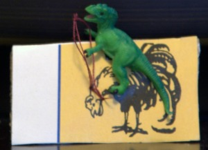 TRex Rides the Rooster