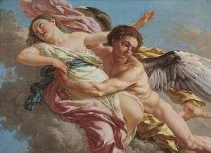 The Abduction Of Oreithya By Boreas Jeune Lagrenee Jean-Jacques, 1774